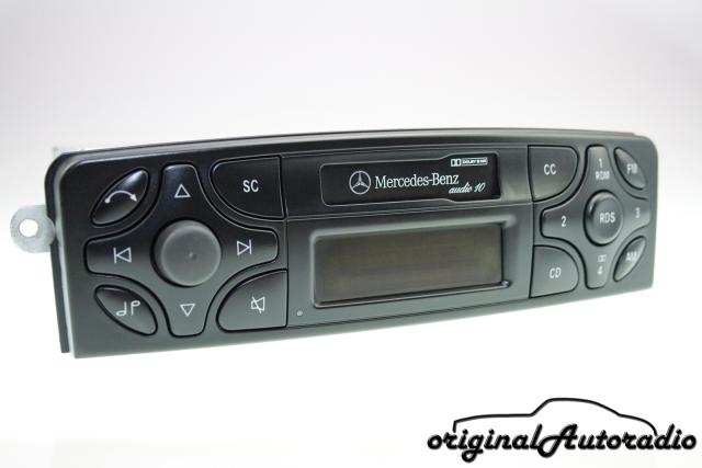 Radioblende für MERCEDES C Sportcoupe  CL203  10//2000-03//2004 für 1-DIN Radio