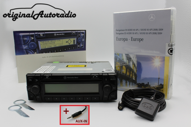 Mercedes Audio 30 APS Komplettpaket AUX-IN MP3 Navigationssystem