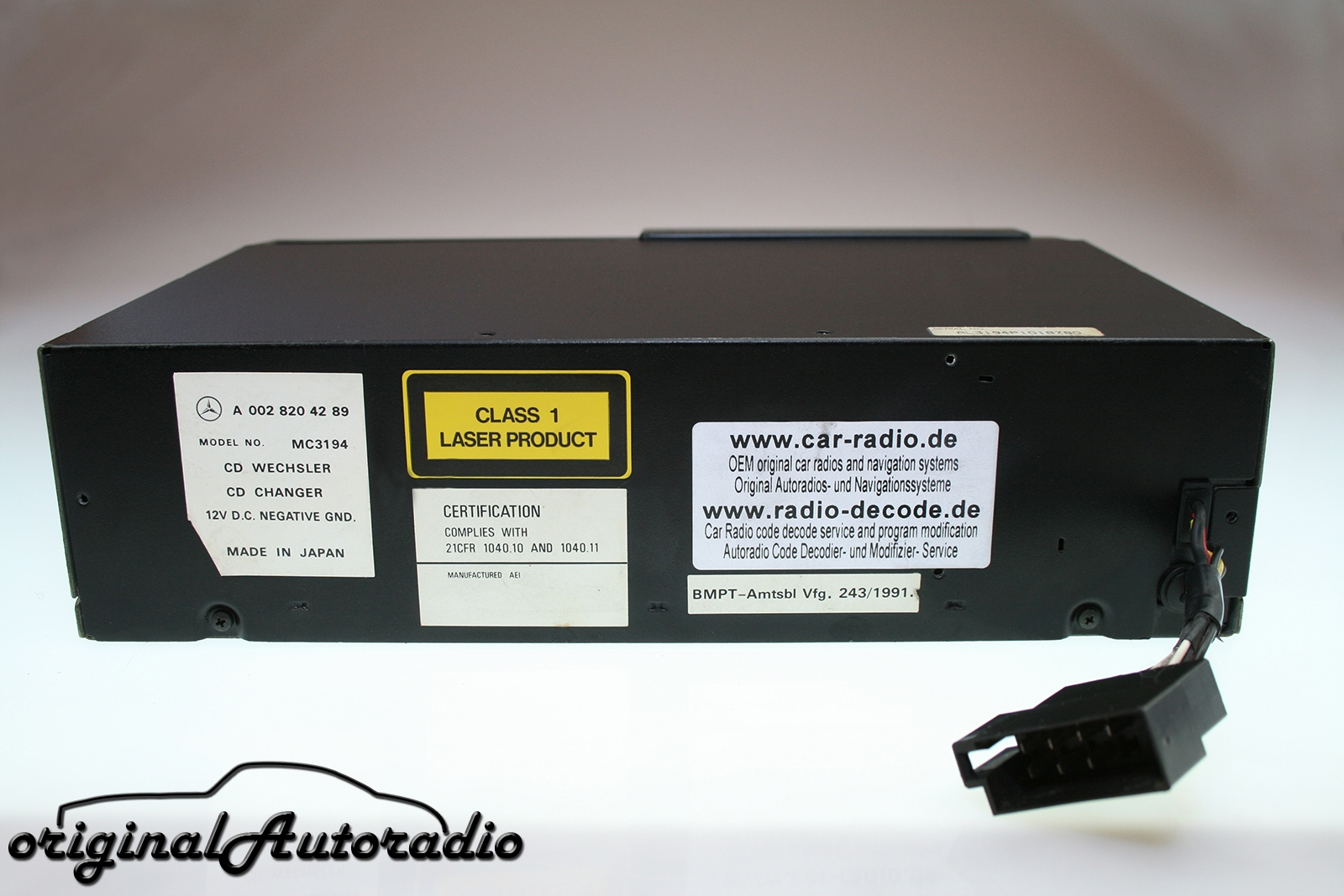 Original-Autoradio.de - Mercedes CD Wechsler MC3194 mit Analog ...